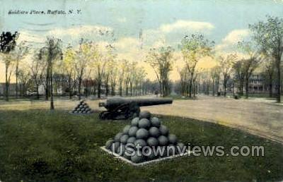 Soldiers Place - Buffalo, New York NY Postcard