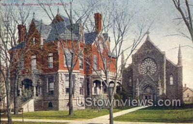 Bishop Coltin's Residence - Buffalo, New York NY Postcard