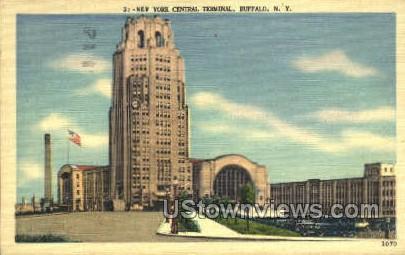 Central Terminal - Buffalo, New York NY Postcard
