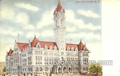 Post Office - Buffalo, New York NY Postcard