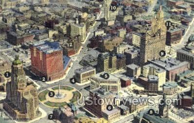 Downtown - Buffalo, New York NY Postcard