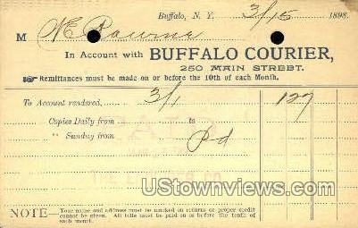 Courier, Dated 3/15/1898 - Buffalo, New York NY Postcard
