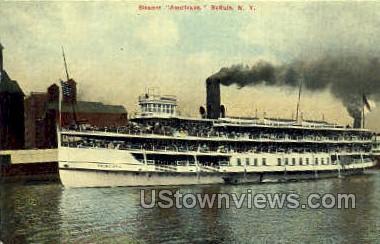 Steamer - Buffalo, New York NY Postcard
