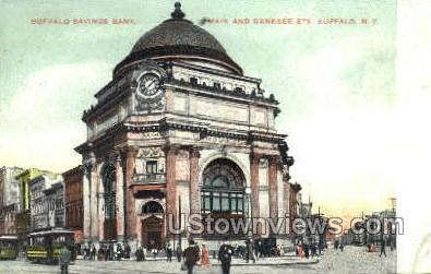 Savings Bank - Buffalo, New York NY Postcard
