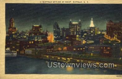 Sky Line - Buffalo, New York NY Postcard