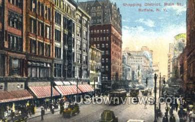 Shopping District - Buffalo, New York NY Postcard