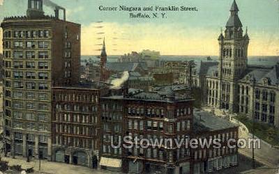 Franklin Street - Buffalo, New York NY Postcard