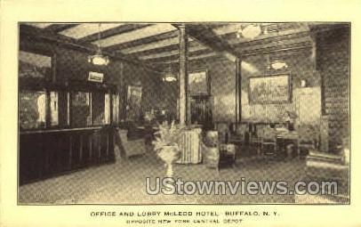 McLeod Hotel - Buffalo, New York NY Postcard