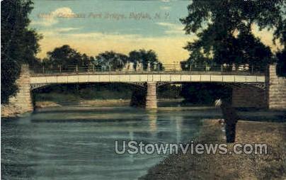 Cazenovia Park Bridge - Buffalo, New York NY Postcard