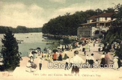 Park Lake & Casino - Buffalo, New York NY Postcard