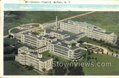 General Hospital - Buffalo, New York NY Postcard