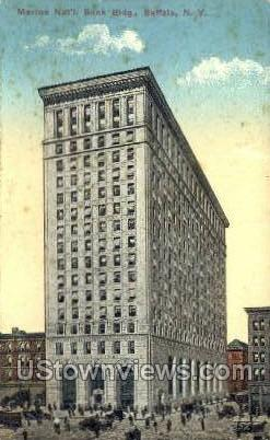 Marine National Bank - Buffalo, New York NY Postcard