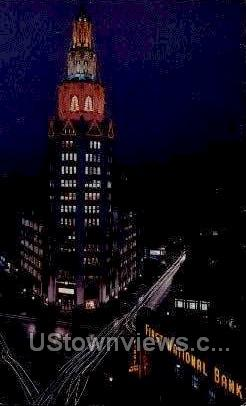 Electric Bldg, First National Bank - Buffalo, New York NY Postcard