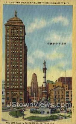 Liberty Bank - Buffalo, New York NY Postcard