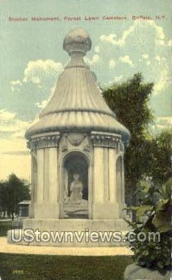 Blocher Monument - Buffalo, New York NY Postcard