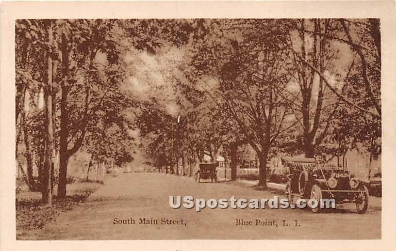 South Main Street - Blue Point, New York NY Postcard