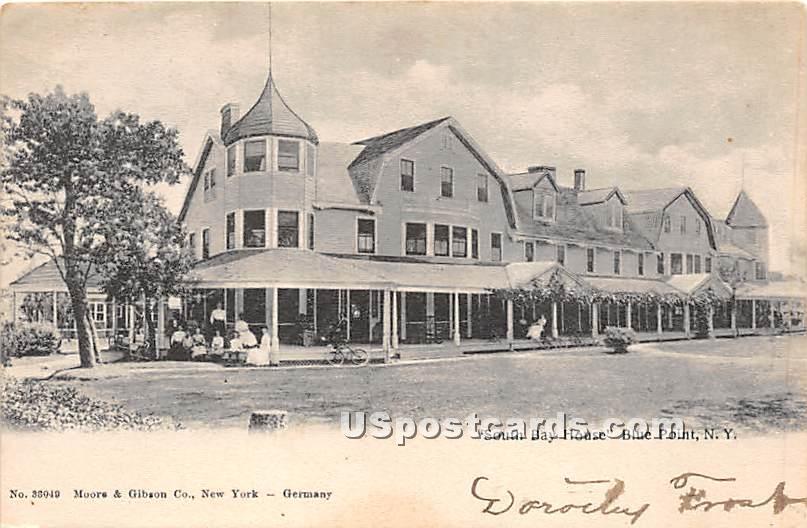 South Bay House - Blue Point, New York NY Postcard
