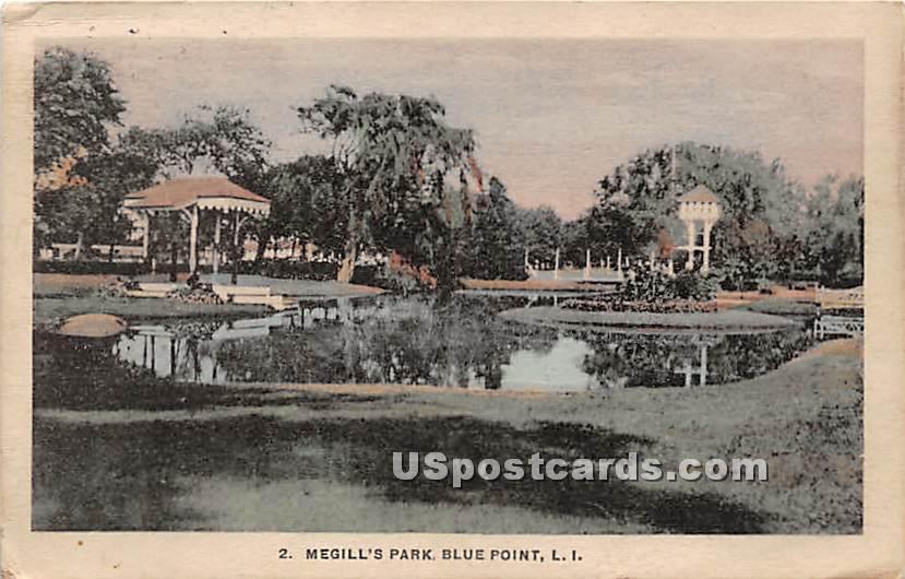 Megill's Park - Blue Point, New York NY Postcard