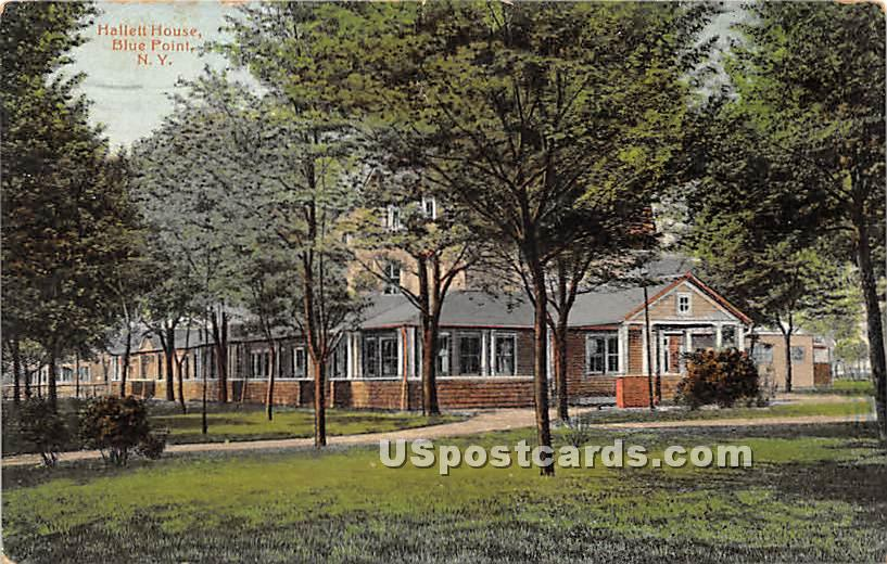 Hallett House - Blue Point, New York NY Postcard
