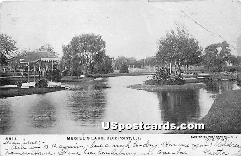 Megill's Lake - Blue Point, New York NY Postcard