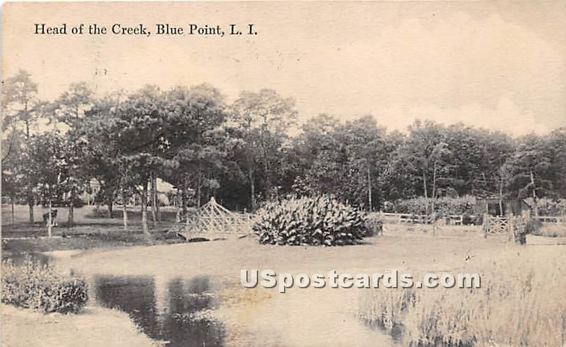 Head of the Creek - Blue Point, New York NY Postcard
