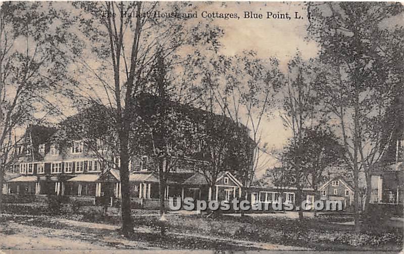 Hallett House & Cottages - Blue Point, New York NY Postcard