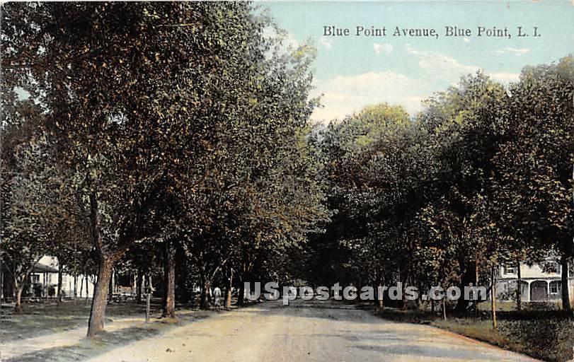 Blue Point Avenue - New York NY Postcard