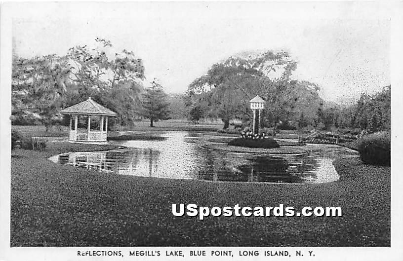Reflections, Megill's Lake - Blue Point, New York NY Postcard