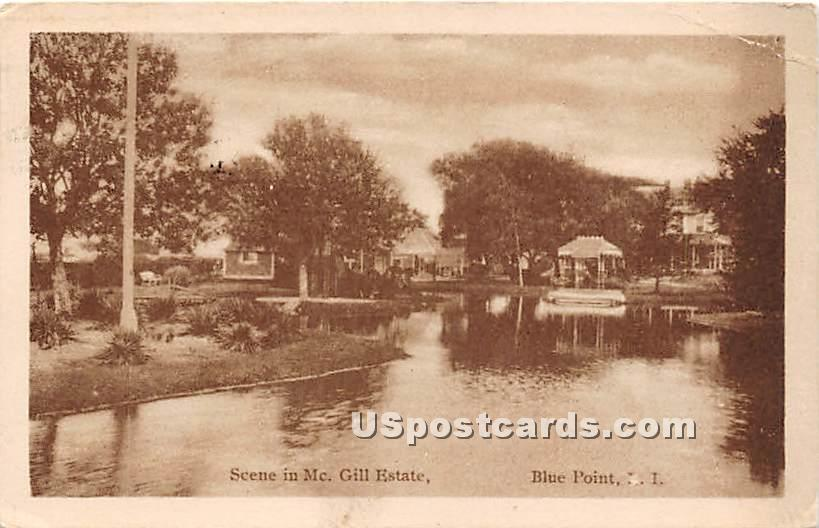 McGill Estate - Blue Point, New York NY Postcard