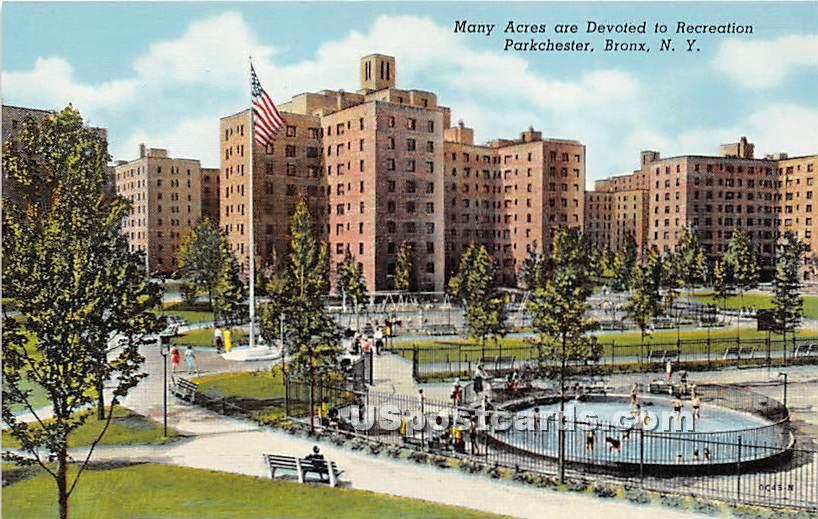 Recreation Parkchester - Bronx, New York NY Postcard