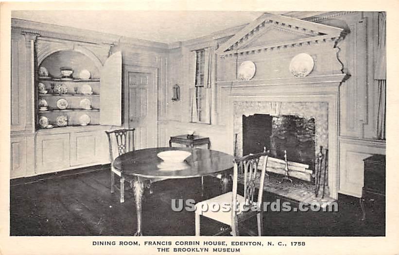 Dining Room, Francis Corbin House - Brooklyn, New York NY Postcard