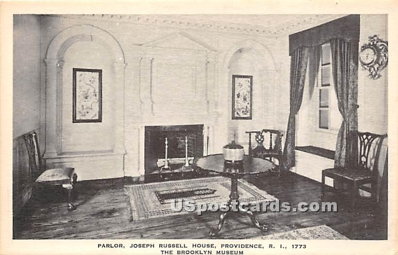 Parlor, Joseph Russell House, Brooklyn Museum - New York NY Postcard