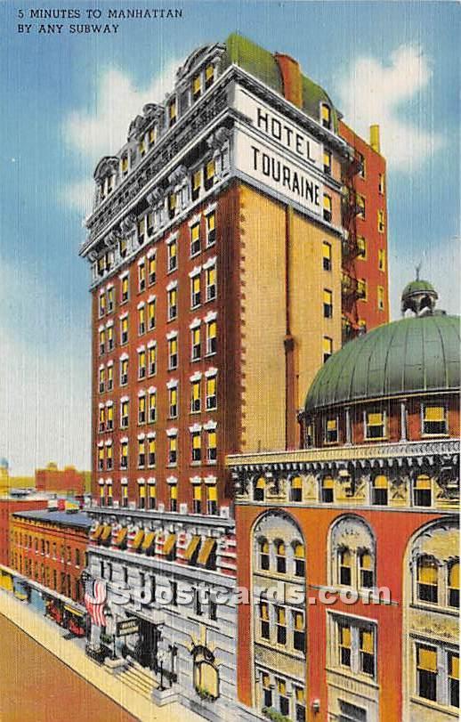 Hotel Touraine - Brooklyn, New York NY Postcard