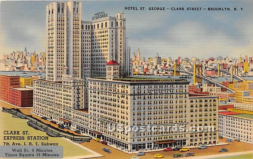 Hotel St George - Brooklyn, New York NY Postcard