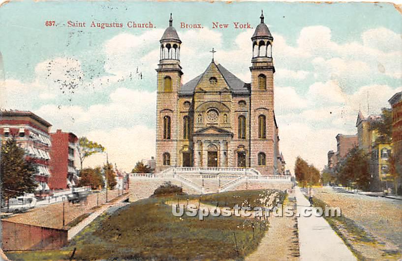 Saint Augustus Church - Bronx, New York NY Postcard