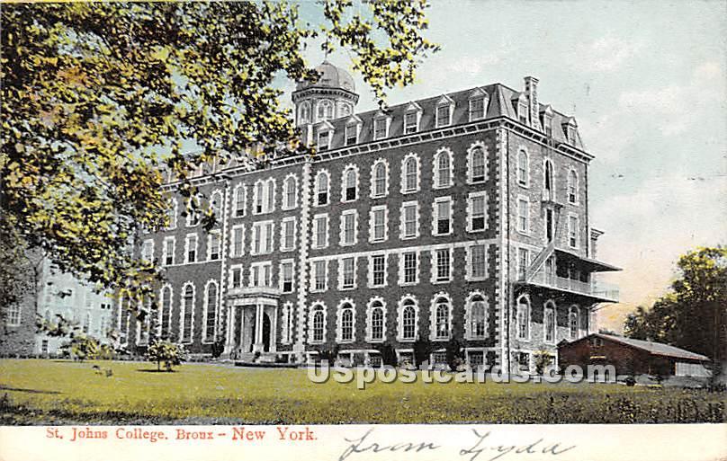 St Johns College - Bronx, New York NY Postcard
