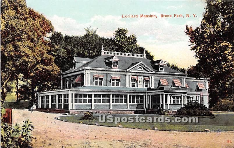 Lorilard Mansion - Bronx Park, New York NY Postcard