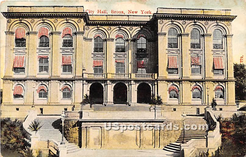 City Hall - Bronx, New York NY Postcard