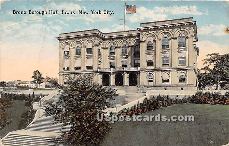 Bronx Borough Hall - New York NY Postcard