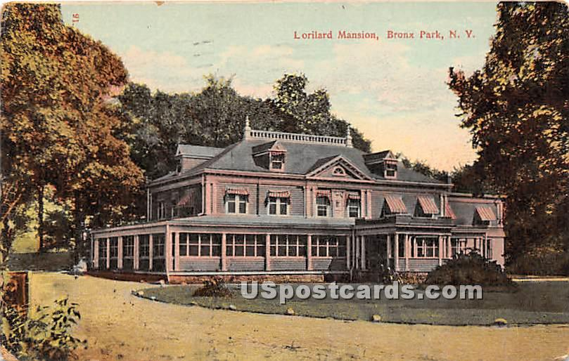 Loriland Mansion - Bronx Park, New York NY Postcard