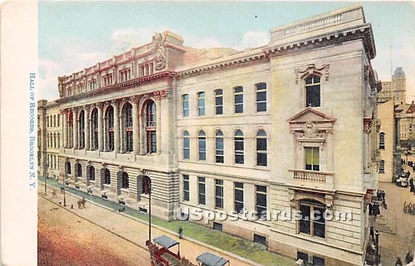 Hall of Records - Brooklyn, New York NY Postcard