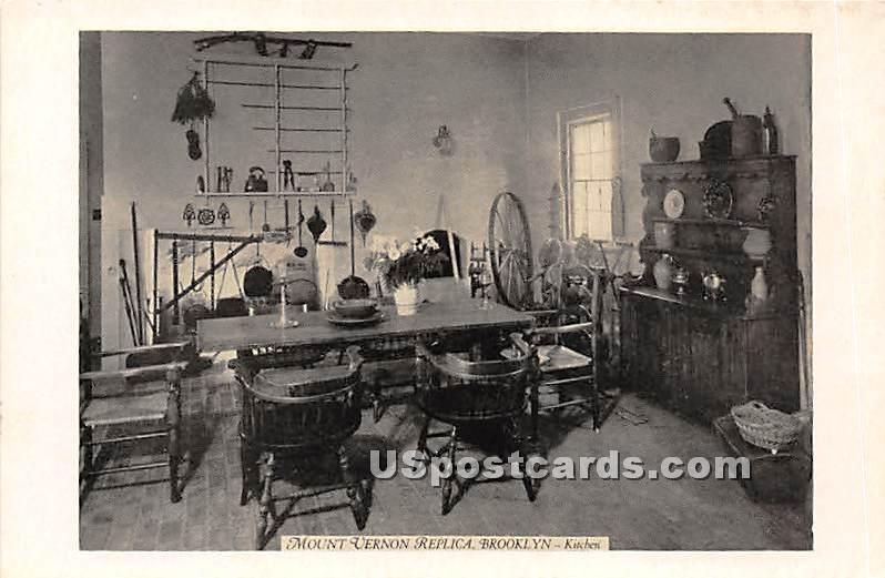 Mount Vernon Replica, Kitchen - Brooklyn, New York NY Postcard