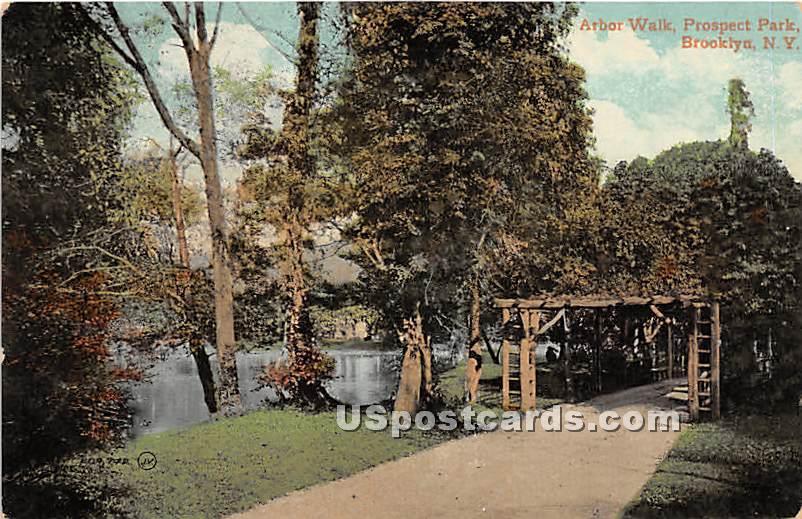 Arbor Walk, Prospect Park - Brooklyn, New York NY Postcard