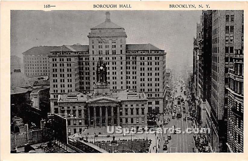 Boorough Hall - Brooklyn, New York NY Postcard