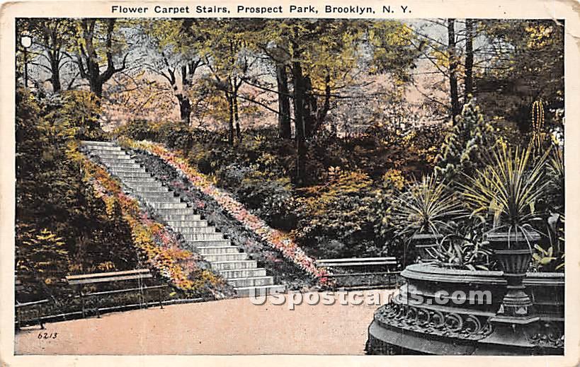 Flower Carpet Statue, Prospect Park - Brooklyn, New York NY Postcard