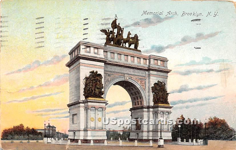 Memorial Arch - Brooklyn, New York NY Postcard