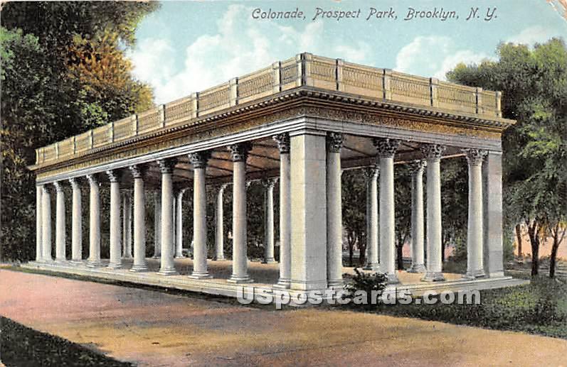 Colonade, Prospect Park - Brooklyn, New York NY Postcard