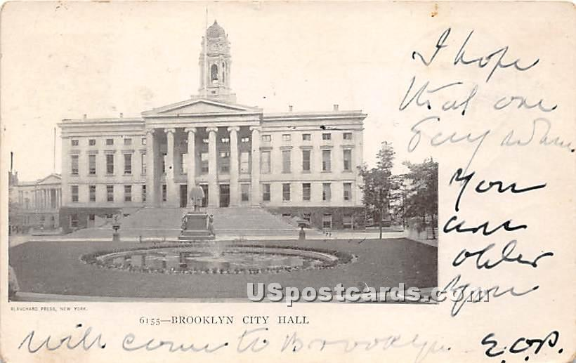 Brooklyn City Hall - New York NY Postcard