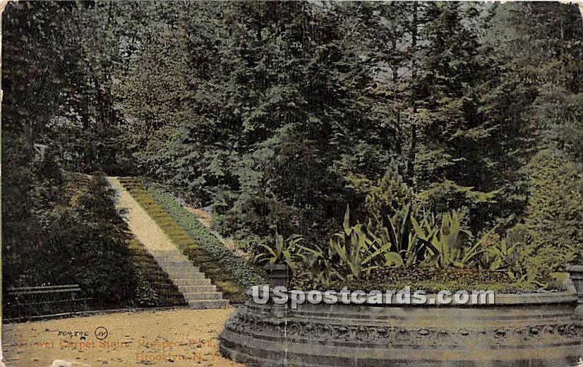 Carpet Stairs, Prospect Park - Brooklyn, New York NY Postcard