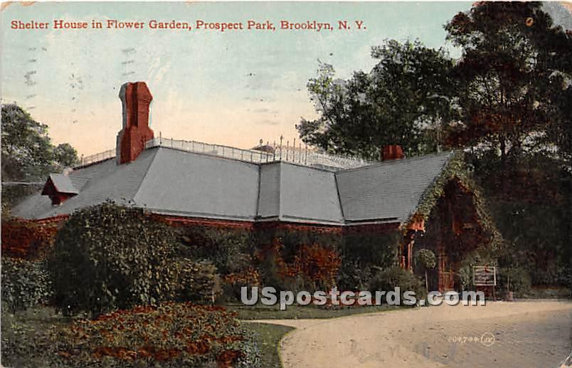 Shelter House, Prospect Park - Brooklyn, New York NY Postcard